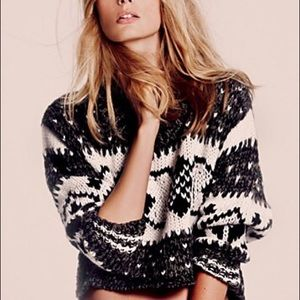 Free People Fair Isle Cropped Sweater